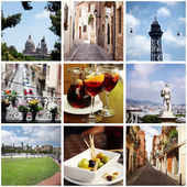 Barcelona and Catalonia. Collage. — Stock Photo