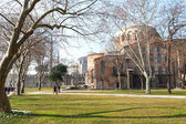 View of the cathedral Hagia Sophia, Istanbul, Turkey, February 9 — ストック写真