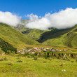 Stock Photo: Beautiful mountain scenery, mountain village
