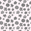 Monochrome hand drawn flowers. Seamless pattern. — Stock Vector