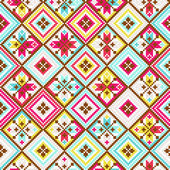 Colorful tribal seamless pattern pixelated — Stock Vector
