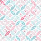 Seamless summer colorful hand drawn leaf pattern. Vector illustr — Stock Vector