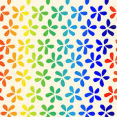 "Seamless floral pattern ""rainbow flowers"" — Stock Vector"