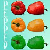 Bell pepper Vector illustration — Wektor stockowy