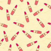 Seamless pattern composed of lipstick — Stock Vector