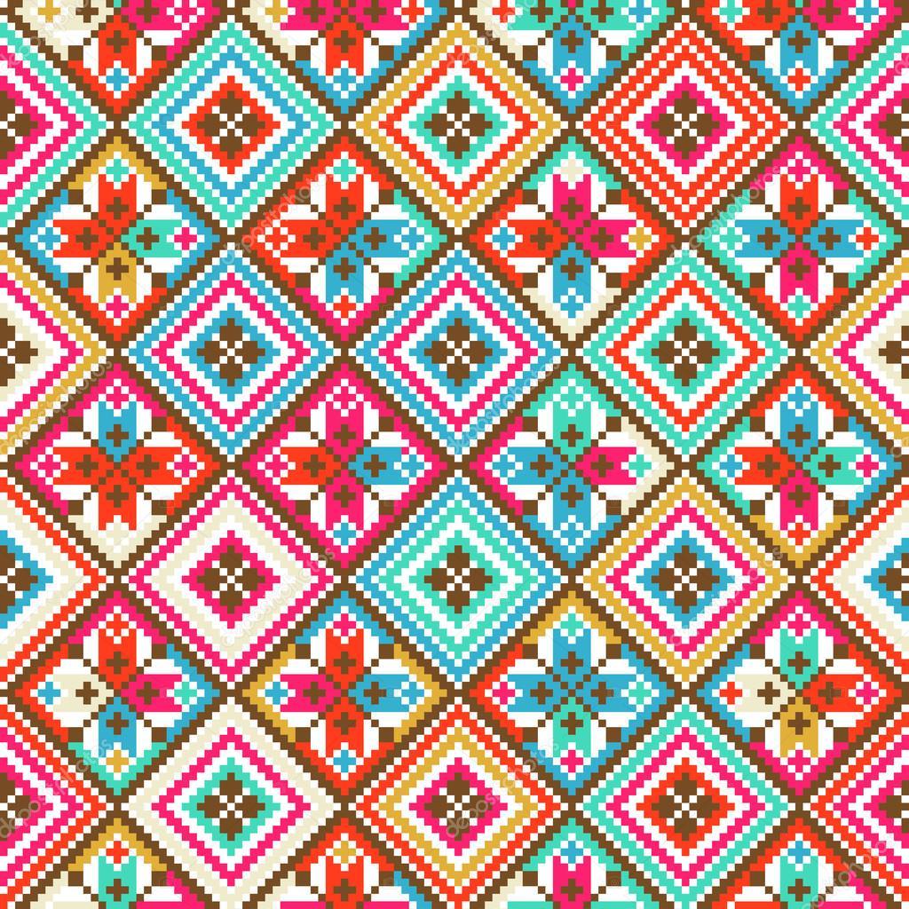 Indian tribal wallpaper pattern