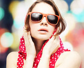 Beautiful young woman in sunglasses  — Stock Photo