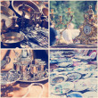 Vintage crockery at a flea market — Stock Photo #45140065