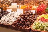 Dried fruit on the counter market — Stock Photo