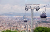 Funicular in Barcelona, city view from Montjuic — Stock Photo
