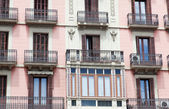 House with balconies, Barcelona — Stock Photo