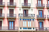 House with balconies, European architecture, Barcelona  — Photo