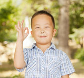 Asian boy 6 years — Stock Photo