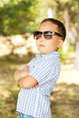 Asian boy 6 years old in sunglasses — Stock Photo