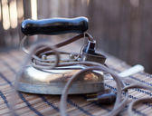 Retro iron, in very soft focus — Stock Photo