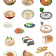 japanese food — Stock Vector