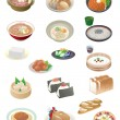 Japanese food — Vector de stock