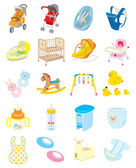 Baby goods / Illustration — Stock Vector