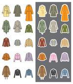 Fashion / Woman / Clothes — Stock Vector