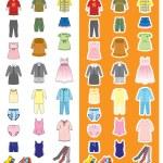 Children's wear — Stock Vector