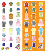 Children's wear — Stock Vector
