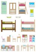 Children's room — Stock Vector