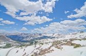 View of the Rocky Mountains from the top of Cottonwood Pass in Colorado — Stock Photo