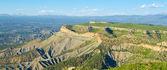 Utkik pekar på mesa verde national park, colorado — Stockfoto