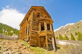 The Largest Preserved House in Animas Forks, a Ghost Town in the San Juan Mountains of Colorado — Stock Photo