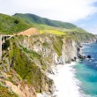 The Famous Bixby Bridge on California State Route 1 — Stock Photo