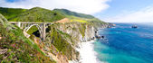 The Famous Bixby Bridge on California State Route 1 — Stok fotoğraf