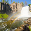 Rainbow Falls at Devil's Postpile National Monument in Californi — Stock Photo