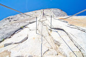 The Cables Hike at Half Dome at Yosemite National Park — Stock Photo