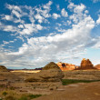 Roadside scenery in Utah at the northern end of the Glen Canyon — Stock Photo