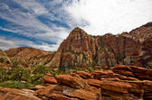Rock formations at Zion National Park. — Стоковое фото