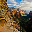 Zion Canyon as seen from Angels Landing at Zion National Park in — Foto de Stock