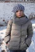 Girl. Russia. winter — Stock Photo