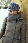 Girl. weekdays.winter — Stock Photo