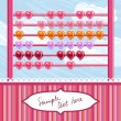 Stock vektor: Loving hearts abacus