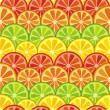 Colorful seamless citrus background — Vector de stock