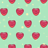 Smiling happy hearts — Stock Vector