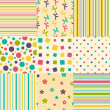 Set of colorful backgrounds - Image vectorielle