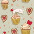 Love cupcakes - Stock Vector
