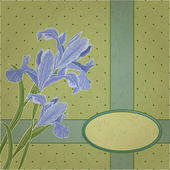 Blueflag cadre floral — Vecteur