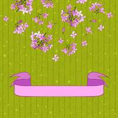 Lilac&ribbon — Stock Vector