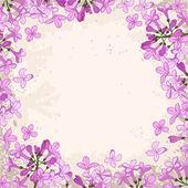 Lilac frame — Stock Vector
