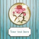 Shabby peony flower — Stock Vector #29278131