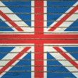 Britain Flag on Wood Texture — Stock Vector