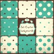 Polka Dots Set — Vettoriale Stock