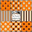 Set of Halloween Seamless Patterns — Imagen vectorial